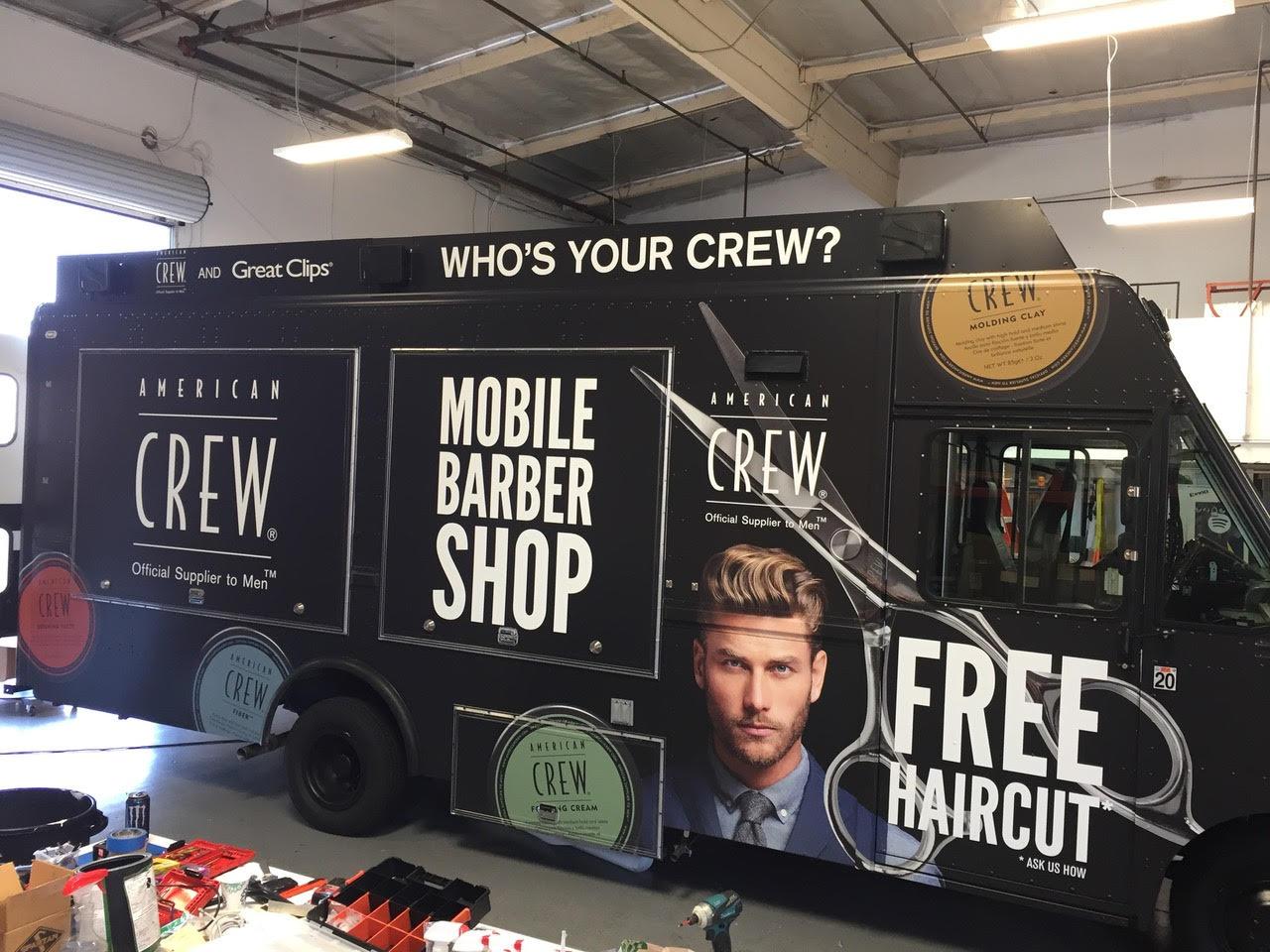 Crew hair salon truck