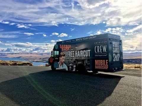 Crew mobile barbershop truck