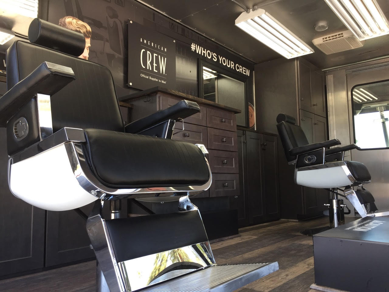 Mobile Barber Shop Truck interior