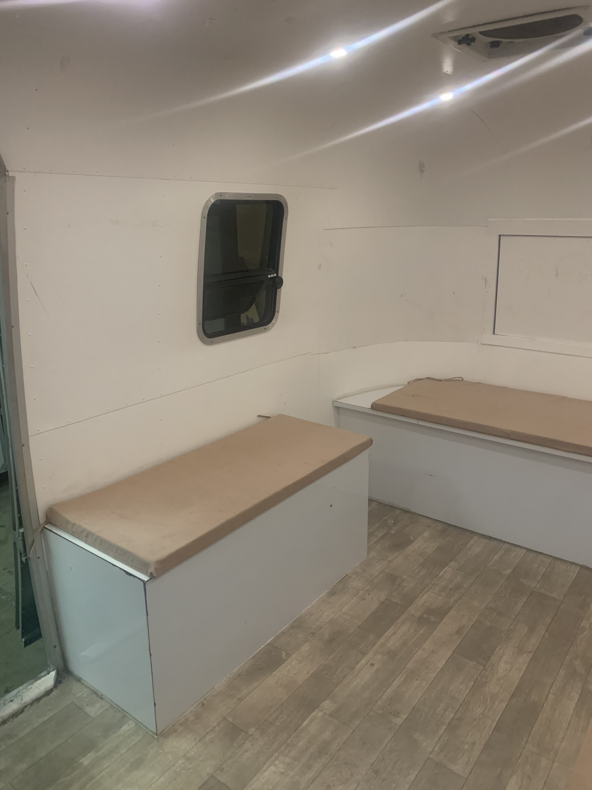 airstream concession trailer benches