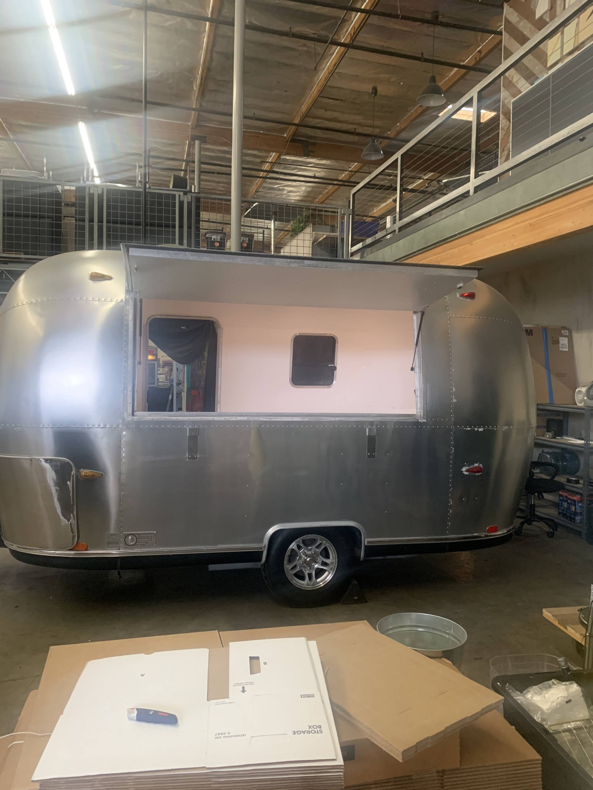 airstream bar concession trailer open