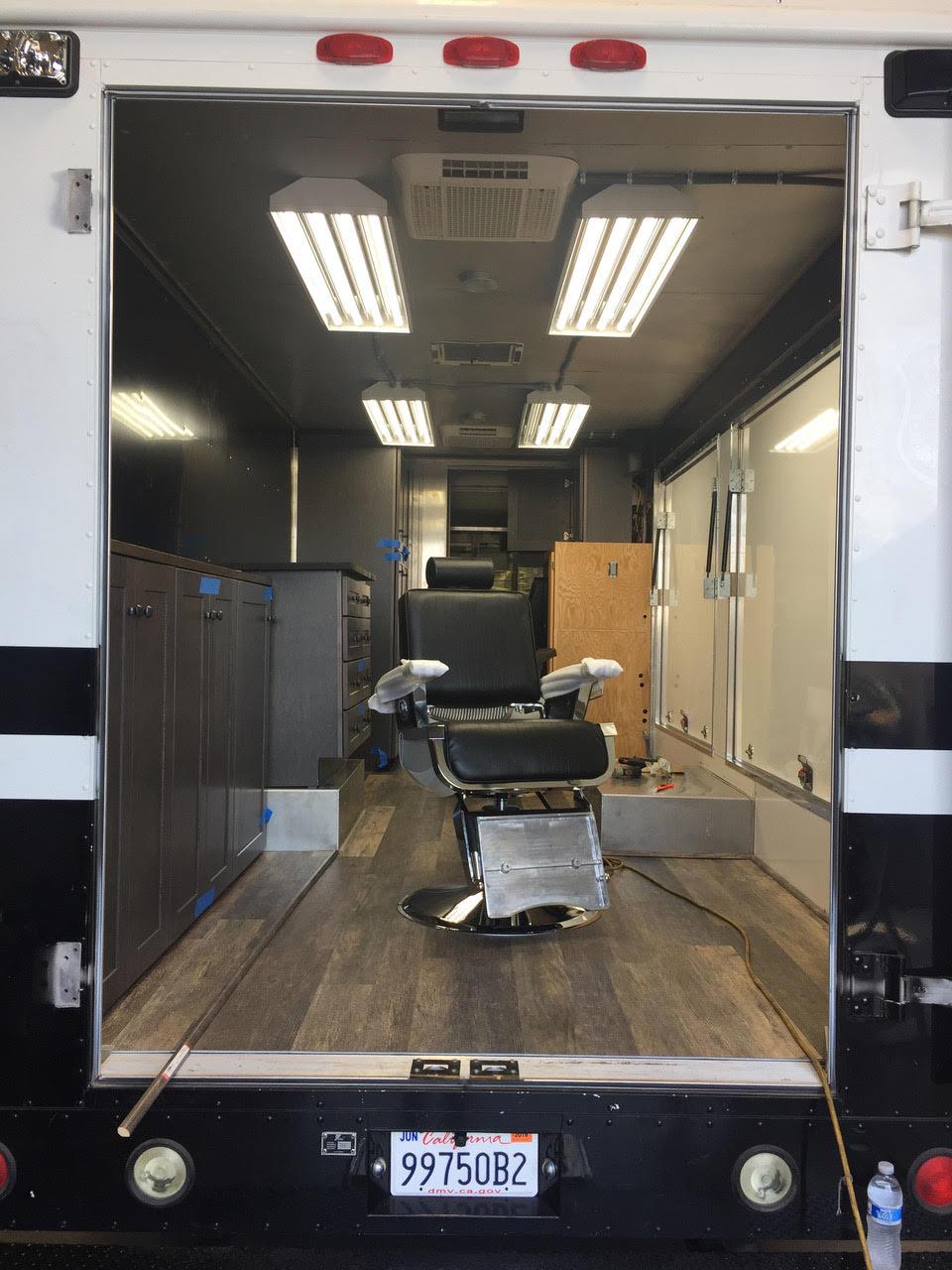 mobile salon interior