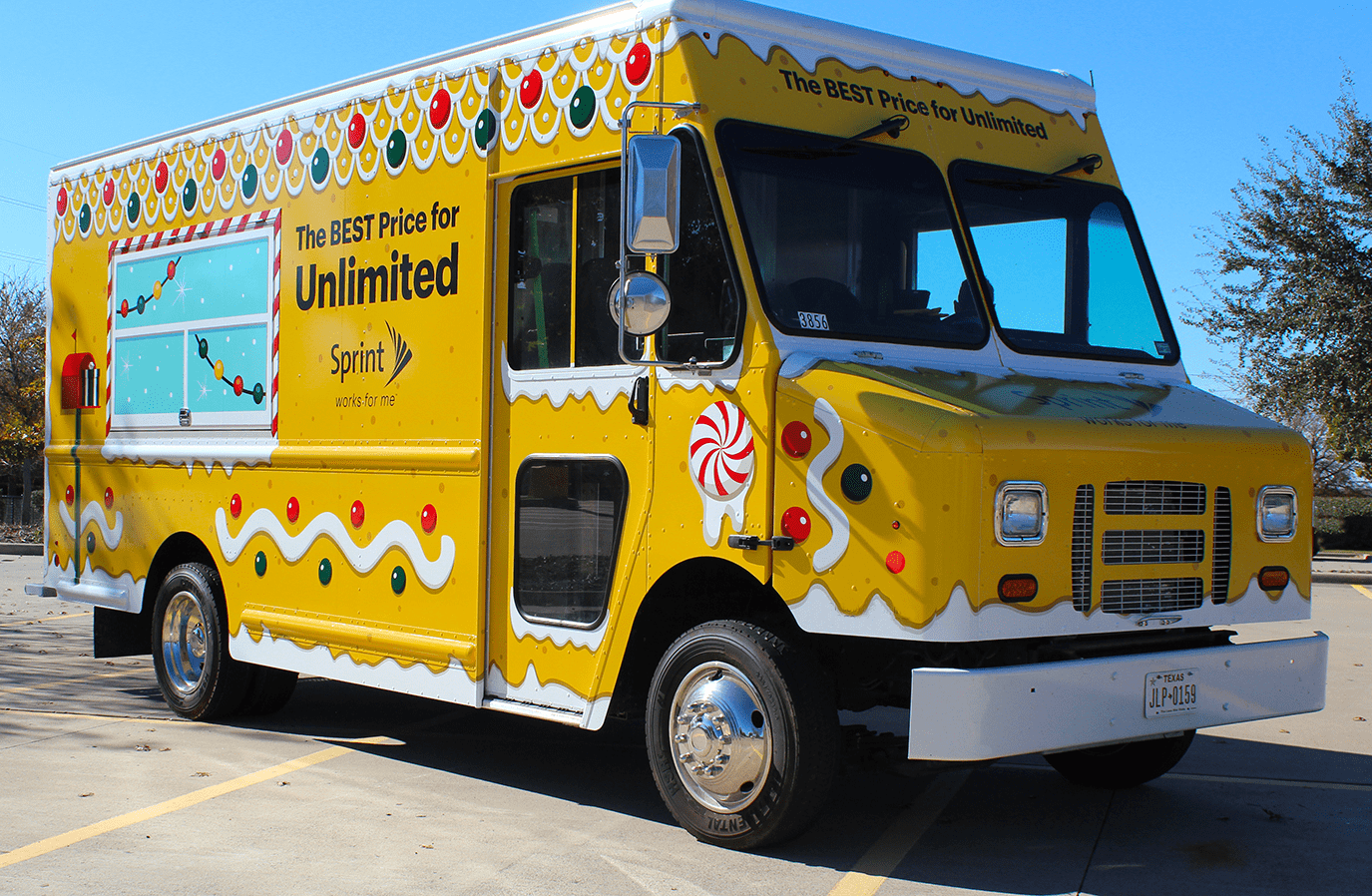 wrapped vending truck