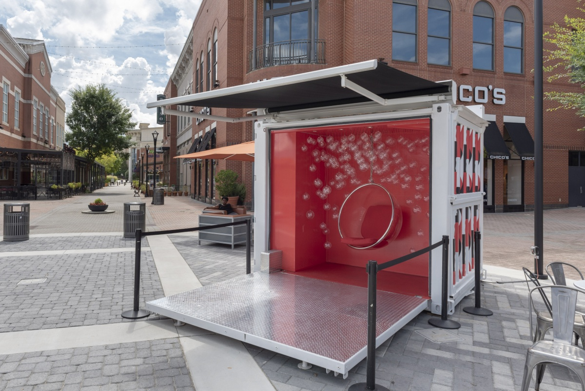 small marketing shipping container