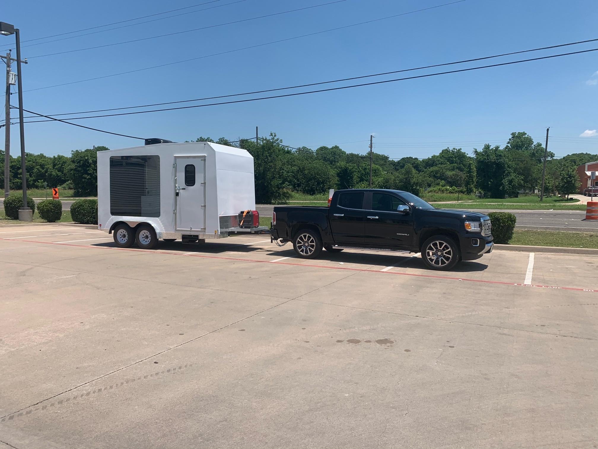 Advertising trailer towing